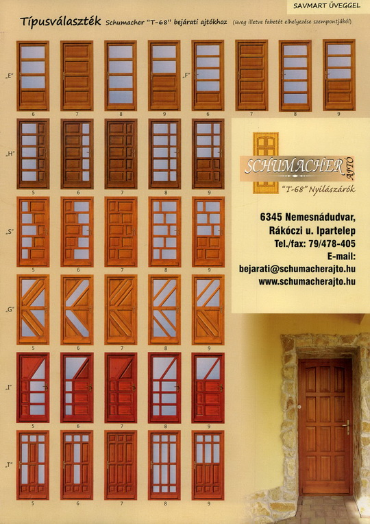Fa bejárati ajtó minták