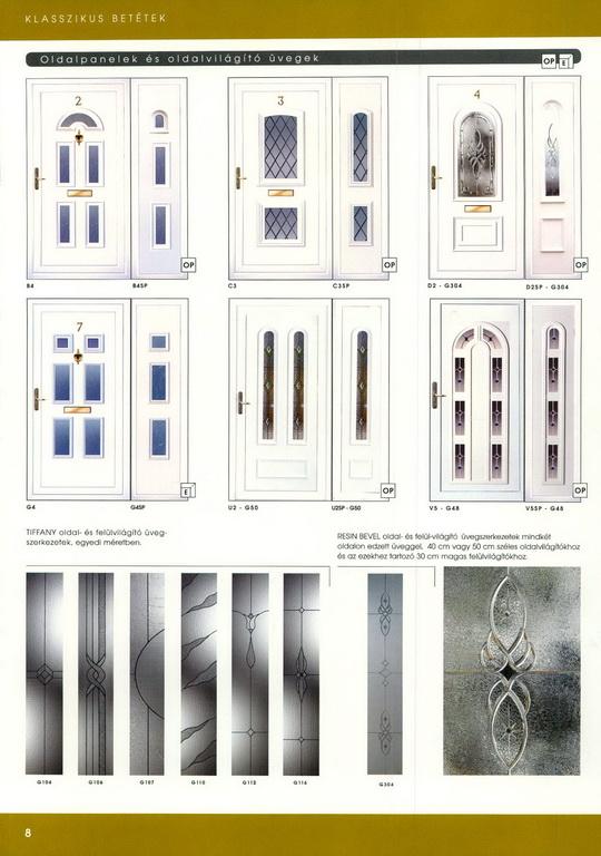 Műanyag bejárati ajtó minták