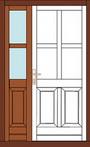 fa asszimetrikus beltéri ajtó panel
